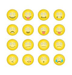emoticon smile icons set 11 vector image
