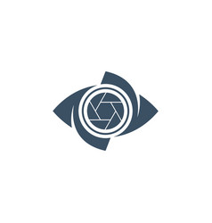 eye and shutter creative icon vector image