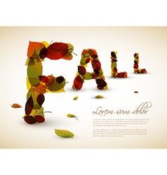 Fall lettering vector