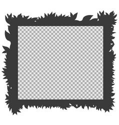frame template with silhouette grass vector image