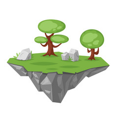game stone green island vector image