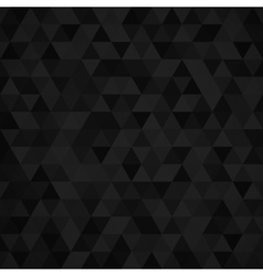 Geometric mosaic pattern from black triangle vector