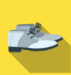 Golfer shoesgolf club single icon in flat style vector