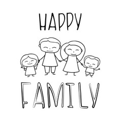 happy family coloring vector image