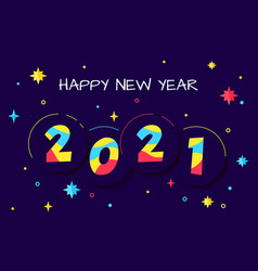 Happy new year 2020 greeting card design vector