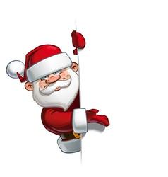 Happy Santa Empty Label Presenting vector image