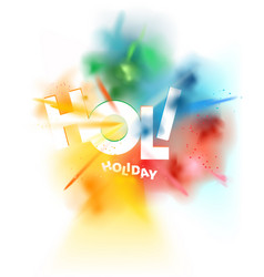Holi holiday banner color powder exploded vector