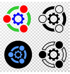 Industrial cooperation eps icon with vector