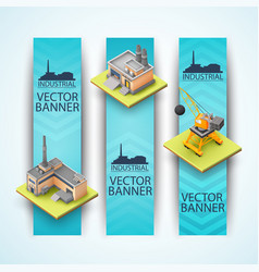 industrial vertical banners set vector image