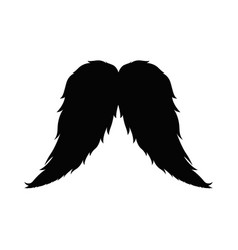 isolated retro mustache vector image