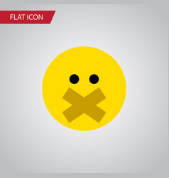 Isolated silent flat icon hush element can vector