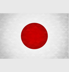 japan country flag japanese nation vector image