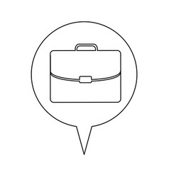 Line briefcase icon business vector