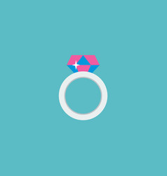 magic ring icon flat element vector image