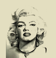Marilyn monroe sketch vector