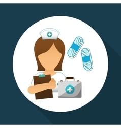 Medical care design nurse icon White background vector