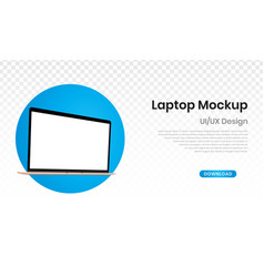 Mockup laptop with blank screen blank template vector
