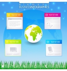 Modern infographic business template vector image