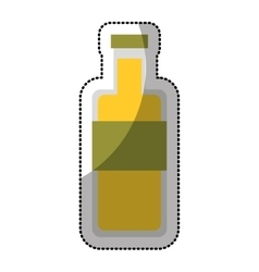 Oil bottle isolated icon vector