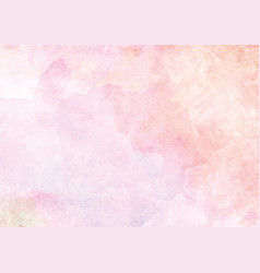 Pastel pink watercolor ink brush paper background vector