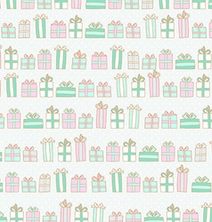 Pattern with boxes with gifts vector image