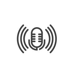 podcast icon design vector image