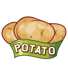 potato label design vector image