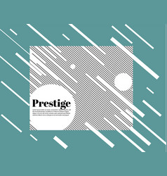 prestige white modern business brochure leaflet vector image
