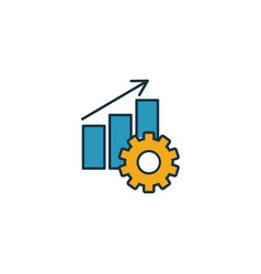 Productivity icon simple element from project vector