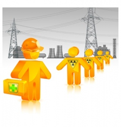radioactive waste icon vector image