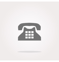 rotary phone web button icon icon vector image