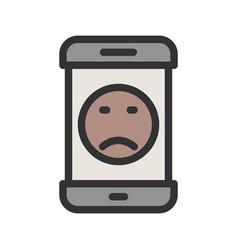 Sad face vector