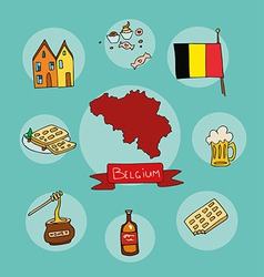set of national profile of the belgium vector image vector image