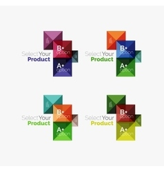 Set of square abstract background templates or vector