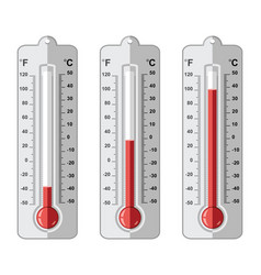 Set of thermometers at different levels vector
