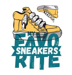 Sneaker footwear poster label sign design artistic vector