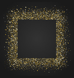 Square frame with glittering dust shining golden vector