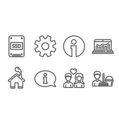 Ssd web analytics and information icons couple vector