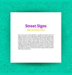 street signs paper template vector image