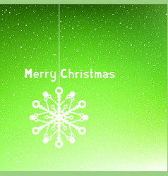 text merry christmas green vector image