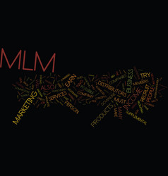 The magic of mlm text background word cloud vector