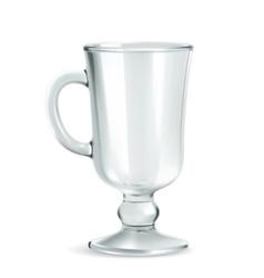 Traditional mug for Irish coffee empty iso vector