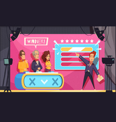 Tv guess word show vector