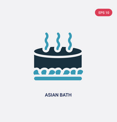 Two color asian bath icon from sauna concept vector