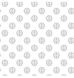 unique brain seamless pattern with various icons vector image