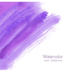 violet purple watercolor brush strokes texture vector image
