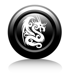 web icon with white dragon vector image