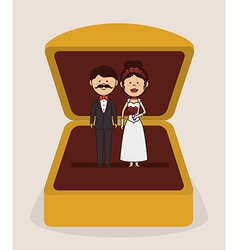 Wedding design over gray background vector