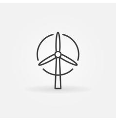 Wind turbine logo or icon vector