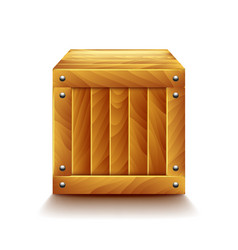 crate isolated on white vector image